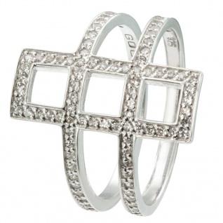 GOOIX 943-06364 Damen Ring Sterling-Silber 925 Silber Weiß 56 (17.8)
