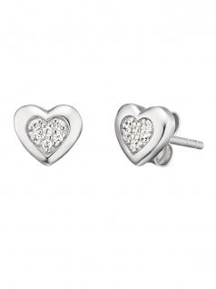 Herzengel HEE-HEART02-ZI-ST Ohrstecker Herz Sterling-Silber 925