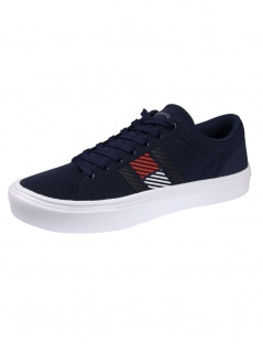 Tommy Hilfiger Herren Schuhe Lightweight Stripes Knit Sneaker Blau