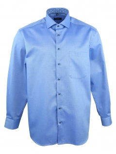 Eterna Herren Hemd Langarm Comfort Fit XL/44 Blau 8463/16/E14V