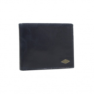 Fossil Geldbörse Ryan RFID Large Pocket Blau Herren Leder Börse