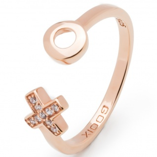 gooix 943-06504-56 Damen Ring XO Rose Weiß 56 (17.8)