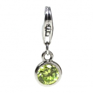 Basic Silber 22.VX092.HG Damen Charms Silber Zirkonia grün