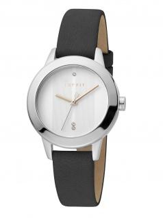Esprit ES1L105L0235 Tact Uhr Damenuhr Lederarmband Schwarz