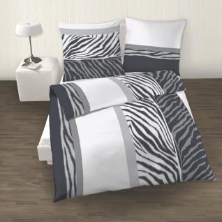 IDO Renforcé Bettwäsche 2tlg. Weiß Schwarz Bettbezug 135x200 cm - Vorschau 2