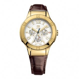 Tommy Hilfiger 1781363 Uhr Damenuhr Lederarmband Datum Braun