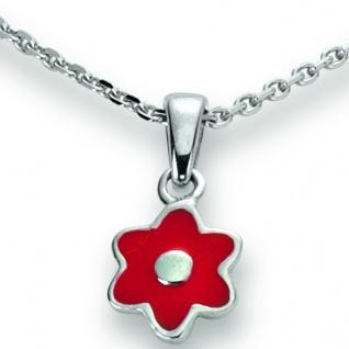 Basic Silber 21.KS110 Mädchen Collier Blume Silber 36 cm rot - Vorschau 1
