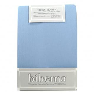 Biberna 77866-221 Jersey Elastic Spannbetttuch Eisblau 180x200 200x220