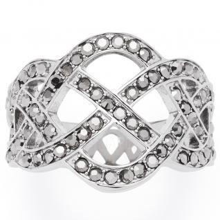 Leonardo Damen Ring Gordiano Edelstahl grau 56 (17.8)