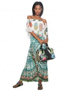 Desigual Damen Handtasche Tasche Lilac Ginebra Grün 18saxfa9-4092 - Vorschau 2