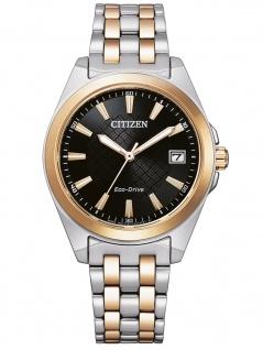Citizen EO1213-85E Eco Drive Uhr Damenuhr Edelstahl Datum bicolor