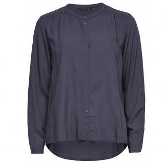 Only Damen Damenbluse Bluse NEW FALLOW Button Shirt Grau Gr. 34