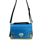 Desigual Bols Roma Tricolor Blau Grün 17WAXPFR-5011 Handtasche Tasche