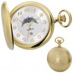 DUGENA 4460306 Taschenuhr Savonette mit Kette Uhr Herrenuhr silber