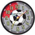 JACQUES FAREL WAL10 Wanduhr Fußball Uhr Junge Kinderuhr grau