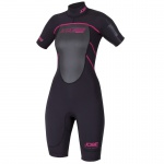 Jobe Damen Neopren Anzug Progress Shorty F-Flex Schwarz-Pink Gr. XS
