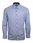 Eterna Herren Hemd Langarm Comfort Fit 8992/16/E15P Blau XL/43
