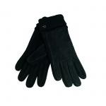 Esprit Knit Suede Glove Schwarz L Damen Handschuhe 107EA1R003-E001