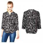Vero Moda Damenbluse EASY 3/4 Shirt Schwarz Gr. M