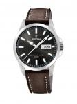 FESTINA F20358/1 Uhr Herrenuhr Lederarmband Datum Braun