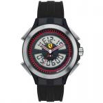 Scuderia Ferrari 0830018 Lap Time Uhr Herrenuhr Silikon schwarz