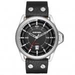 Diesel DZ1790 ROLLCAGE Uhr Herrenuhr Lederarmband Datum schwarz