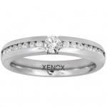 XENOX X5010-52 Damen Ring XENOX & friends Silber Weiß 52 (16.6)