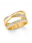 s.Oliver 2021072 Damen Ring Edelstahl Gold Weiß 58 (18.5)
