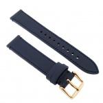 Fossil Uhrenarmband LB-ES3832 Original Ersatzband Leder 18 mm Blau
