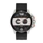Diesel IRONSIDE Chronograph Uhr Herrenuhr Lederarmband schwarz