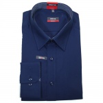 Eterna Herrenhemd Langarm 1100/19/X148 Modern Fit Marine Blau XL/43