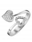 Julie Julsen JJRG0272.1 Damen Ring Herz Sterling-Silber 925 Weiß