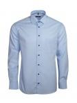 Eterna Herren Hemd Langarm Modern Fit Hemden 8504/10/X19P Blau XL/44