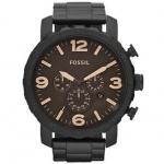 Fossil JR1356 Herrenuhr Uhr Datum Chronograph Modell Nate schwarz