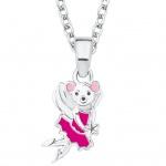 Prinzessin Lillifee 2017990 Mädchen Collier Maus Silber Pink