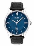 Hugo Boss 1513553 GOVNR Uhr Herrenuhr Lederarmband Datum Schwarz