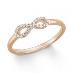 s.Oliver 9242382 Damen Ring Infinity Rose Weiß 54 (17.2)