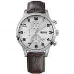 Hugo Boss 1512447 Herrenuhr Lederband 50m Datum Chronograph braun