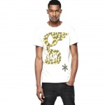 G-Star Herren T-Shirt Kurzarm Glims Shirt Grau-Gelb Gr. XXL