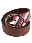 Tommy Hilfiger Gürtel Jeansgürtel Oval Buckle Belt Leder 100cm Braun