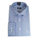 Eterna Herrenhemd Langarm 8231/18/E187 Comfort Fit Blau Gr. XL/43