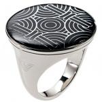 Emporio Armani EGS1242 Damen Ring EGS 1242 Edelstahl Größe 51 (16, 5 mm