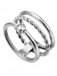 Esprit ESRG00042117 Damen Ring Loris Edelstahl Silber Weiß 53 (16.9)