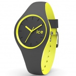 Ice-Watch DUO.AYW.S.S.16 ICE duo Anthracite yellow Small Damenuhr grau