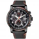 Citizen AT8125-05E Funkuhren Uhr Lederarmband Chrono Datum schwarz