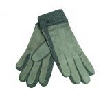 Esprit Knit Suede Glove Grau L Damen Handschuhe 107EA1R003-E035