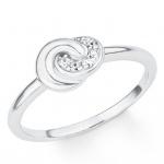 s.Oliver 2017189 Damen Ring Knoten Silber Weiß 52 (16.6)