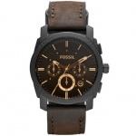 Fossil FS4656 Machine Chronograph Uhr Herrenuhr Leder Datum braun