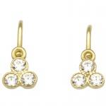 Basic Gold KI54 Mädchen Ohrringe 14 Karat (585) Gelbgold Weiß