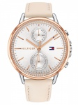 Tommy Hilfiger 1781913 CARL Uhr Damenuhr Lederarmband Datum Rosa